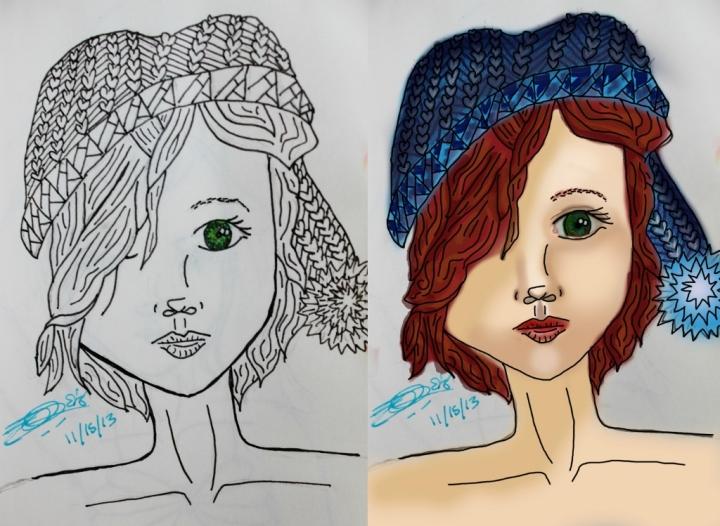 First Digital Drawing Progress (1024x749)